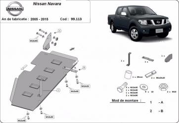 Scut auto metalic motor Nissan Navara D40 scut rezervor / 2005-2015 Scuturi auto