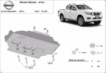pret preturi Scut auto metalic motor Nissan Navara NP300 / toate motorizarile / 2015-