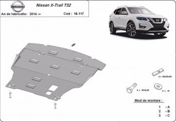 Scut auto metalic motor Nissan Xtrail T32 / Koleos / 2016- Scuturi auto