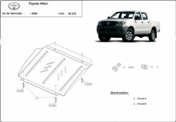 Scut auto metalic motor pentru Toyota Hilux / toate motorizarile / -2006 Scuturi auto
