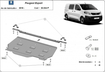 Scut auto metalic motor Peugeot Expert 2016- Peugeot Traveller 2016- Toyota Proace 2016- Citroen Spacetourer 2016- Scuturi auto