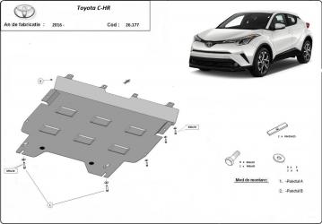 Scut auto metalic motor Toyota C-HR / toate motorizarile / 2016- Scuturi auto