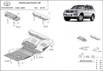 pret preturi Scut auto metalic motor Toyota FJ Cruiser / toate motorizarile / 2007-2010 Toyota Land Cruiser 120 / 3.0 4.2D / 2002-2009