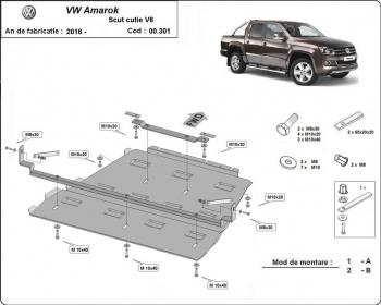 Scut auto metalic motor Volkswagen Amarok / 2010- Scuturi auto