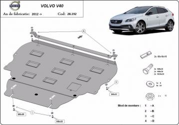 Scut auto metalic motor Volvo V40 / 2012- Scuturi auto