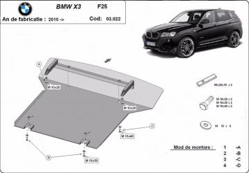 pret preturi Scut auto metalic MTR BMW X3 F25