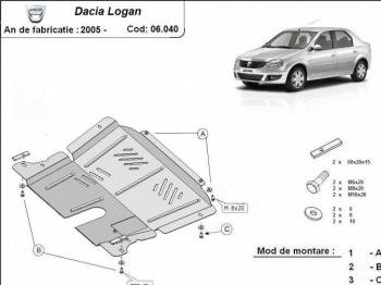 Scut auto metalic MTR DACIA LOGAN I / LOGAN MCV / SANDERO I Scuturi auto