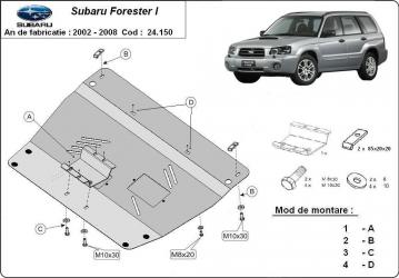 Scut auto metalic MTR SUBARU FORESTER II Scuturi auto