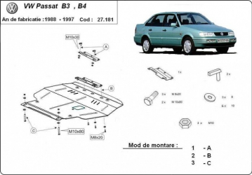 Scut auto metalic MTR VOLKSWAGEN PASSAT B3/B4 Scuturi auto