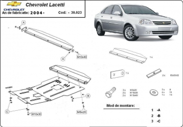 Scut auto metalic pentru motor MTR CHEVROLET LACETTI DAEWOO NUBIRA II Scuturi auto