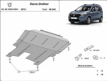 Scut auto metalic pentru motor MTR Dacia Dokker Lodgy Logan II Logan MCV Dacia Sandero II Scuturi auto