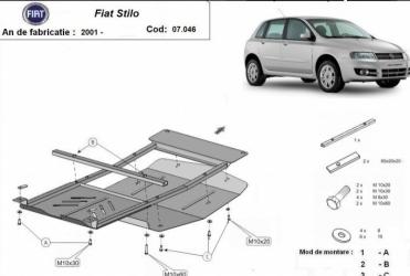 Scut auto metalic pentru motor MTR FIAT STILO Scuturi auto