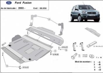 Scut auto metalic pentru motor MTR FORD FUSION Scuturi auto