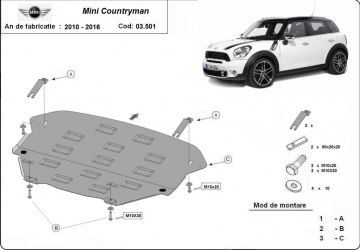 Scut auto metalic pentru motor MTR MINI COOPER R56 Scuturi auto