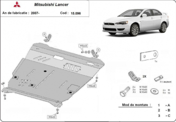 Scut auto metalic pentru motor MTR MITSUBISHI LANCER Scuturi auto