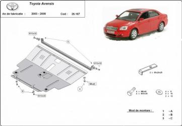 Scut auto metalic pentru motor MTR TOYOTA AVENSIS Scuturi auto