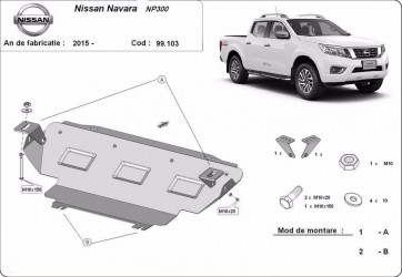 Scut auto metalic radiator Nissan Navara / toate motorizarile / 2015- Scuturi auto