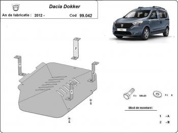 Scut auto metalic rezervor Dacia Dokker / toate motorizarile / 2012 and ndash Scuturi auto