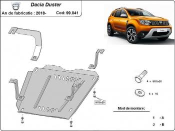 Scut auto metalic rezervor Dacia Duster / toate motorizarile / 2010 and ndash Scuturi auto