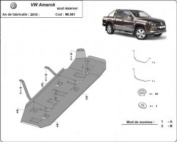 Scut auto metalic rezervor / pentru model fara Scut plastic Volkswagen Amarok / 2010- Scuturi auto