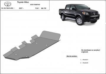 Scut auto metalic rezervor Toyota Hilux / toate motorizarile / 2007- Scuturi auto