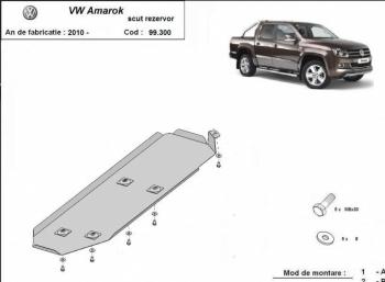 Scut auto metalic rezervor Volkswagen Amarok / toate motorizarile / 2010- Scuturi auto
