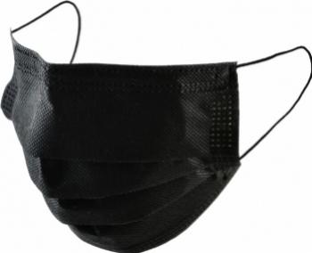 Set 40 Masca neagra cu filtru de carbon activ 3 straturi Polipropilena Masti chirurgicale si reutilizabile