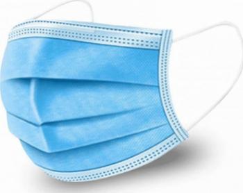 Set 500 Masca faciala medicala de protectie cu 3 straturi si 3 pliuri Polipropilena Albastru Masti chirurgicale si reutilizabile