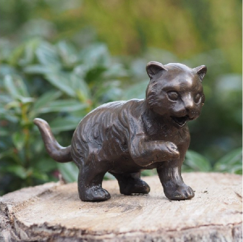 Statuie de bronz moderna Standing Cat 7x4x13 cm Obiecte de arta