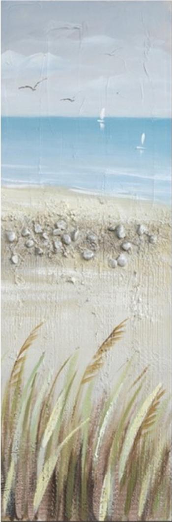 Tablou pictat manual Seasite set 120 x 40 cm Albastru Tablouri