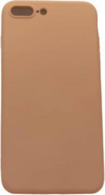 Husa protectie iPhone 7 PLUS iPhone 8 PLUS ultra slim silicon interior din microfibra Crem pastel