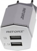 Incarcator retea Dual USB Retorz RT-58 UTOK 450Q Alb Incarcatoare Telefoane