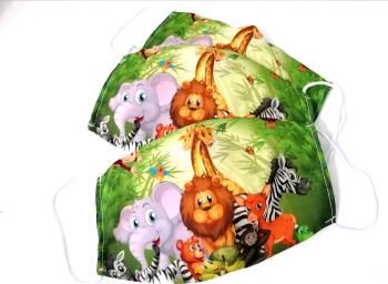 Masca protectie copii reutilizabila din bumbac cu imprimeu Leu 2 straturi ACD506 - 23h Events Masti chirurgicale si reutilizabile