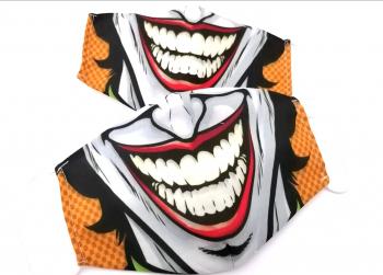 Masca protectie reutilizabila din bumbac cu imprimeu Joker 2 straturi ACD505 - 23h Events Masti chirurgicale si reutilizabile