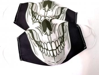 Masca protectie reutilizabila din bumbac cu imprimeu Joker albnegru 2 straturi ACD508 - 23h Events Masti chirurgicale si reutilizabile