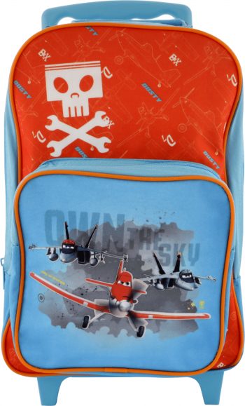 Troler/rucsac Planes Disney pentru copii 44x25x16 cm Albastru deschis