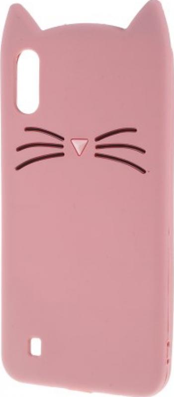 Carcasa Husa Samsung Galaxy A10 / Galaxy M10 model Pink Cat Ears 3D Antisoc + Folie sticla securizata Samsung Galaxy A10 / Galaxy M10