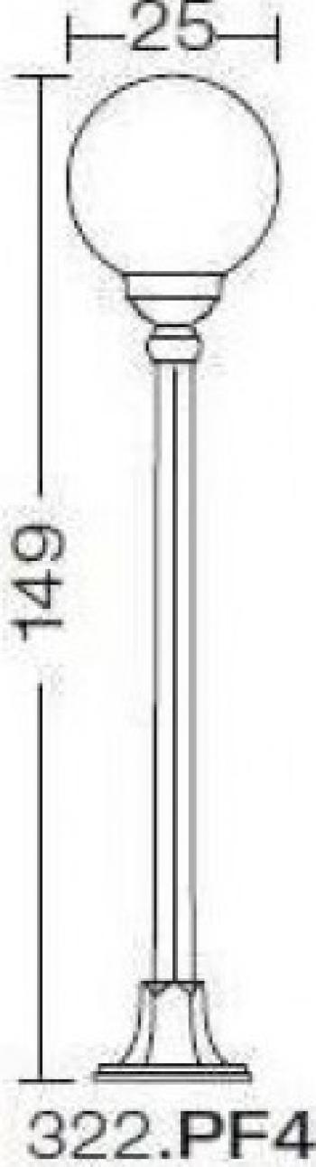 EXTERIOR AMALFI 322.PF4 Corpuri de iluminat