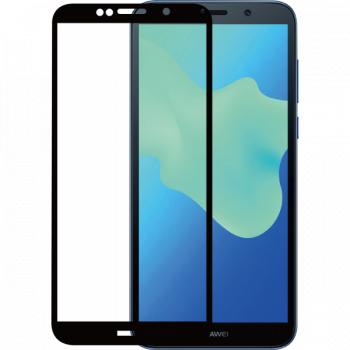Folie de protectie Huawei Y5 2018 Folie sticla securizata 3D Negru FULL SCREEN Tempered Glass Antisoc Viceversa Folii Protectie