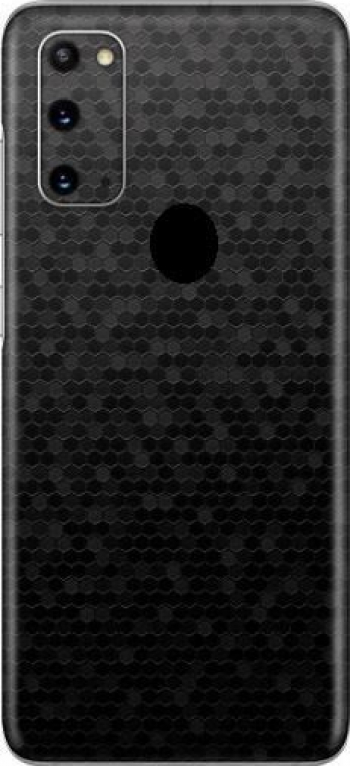 Folie Skin Pentru Samsung Galaxy A21s Set 2 - ApcGsm Wraps HoneyComb Black Folii Protectie