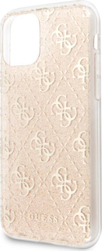 Husa Cover Guess Glitter 4G pentru iPhone 11 Pro Max Gold Huse Telefoane