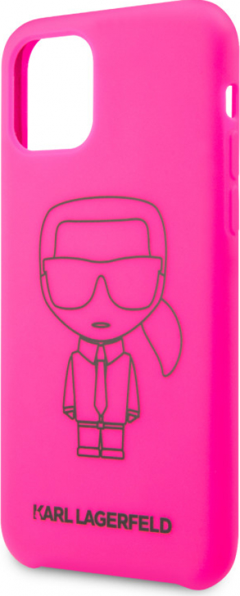 Husa Cover Karl Lagerfeld Silicone Pink Out pentru iPhone 11 Pro Roz Huse Telefoane