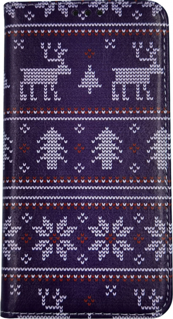 Husa Flip Carte Apple iPhone 11 Pro Max model model Christmas Knit Portofel cu Stand Antisoc Viceversa Huse Telefoane