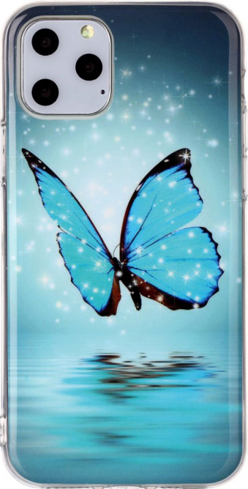 Husa silicon Apple iPhone 11 Pro Fosforescent model Butterfly Silicon TPU Viceversa Huse Telefoane