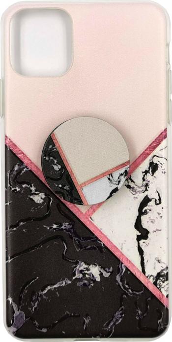 Husa silicon Apple iPhone 11 Pro Max model Pop Marble Elegance cu Suport Grip Antisoc TPU Viceversa Huse Telefoane