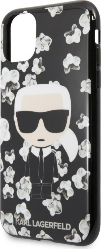 Karl Lagerfeld TPU Flower Cover pentru iPhone 11 Pro Max Negru Huse Telefoane