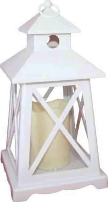 Lampa cu led tip flacara Home LTN 3/WH alba 1 Led portocaliu Corpuri de iluminat