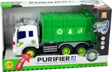 Masina de gunoi cu sunete si lumini jucarie cu baterii incluse