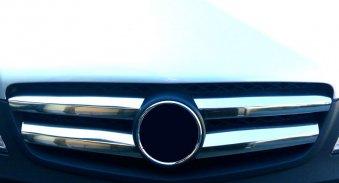 Ornamente inox grila masca fata cromate dedicate Mercedes Vito W639 2010-2014 Facelift Huse si Accesorii
