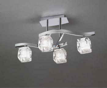 PLAFONIERA CUADRAX CRISTAL 0957 Corpuri de iluminat